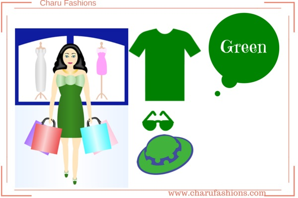 Green Color  Women Clothing