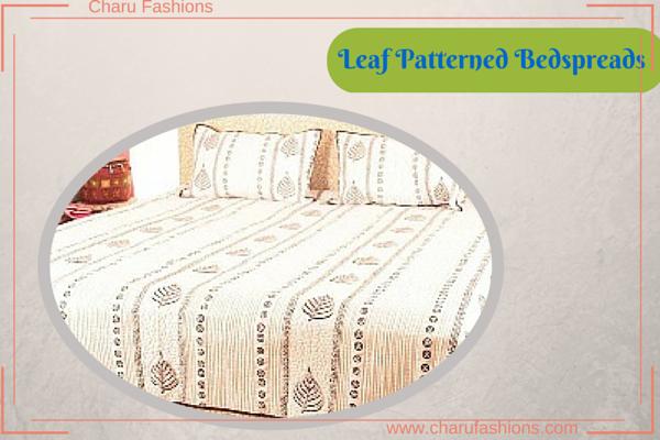 Leaf Printed Bedspreads - Charu Fashions