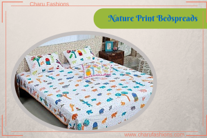 Nature Print Bedspreads - Charu Fashions