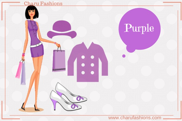 Purple Color  Women Clothing