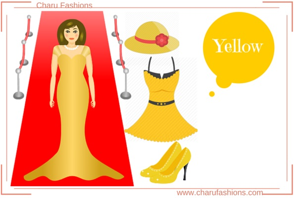 Yellow Color  Women Clothing
