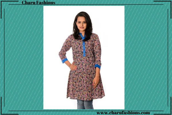 Floral Printed Kurtis | Charu Fashions