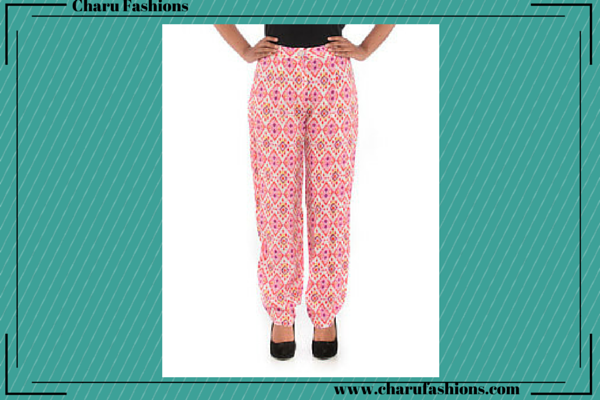 Floral Printed Trousers | Charu Fashions