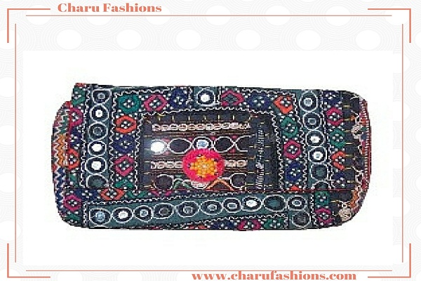 Jaipuri Mirror Worked Handbag | Charu Fashions