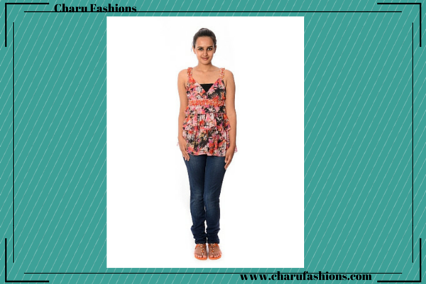 Floral Printed Top | Charu Fashions