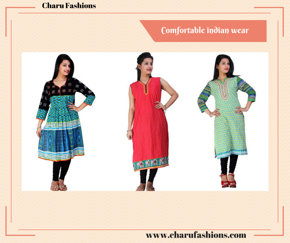 Indian Kurtis | Charu Fashions