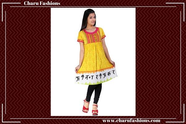 Frock Style Kurti | Charu Fashions