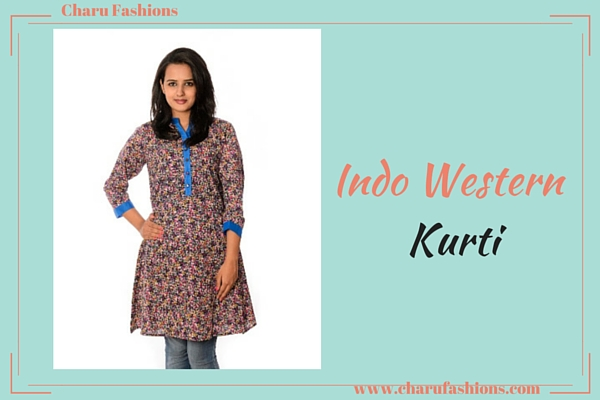 Indo western kurti|Charu Fashions