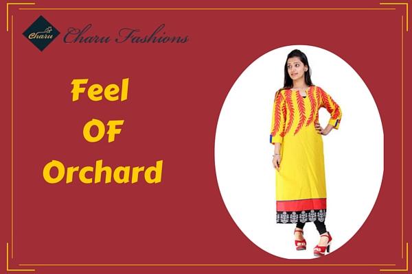 Yellow Kurti | Charu Fashions
