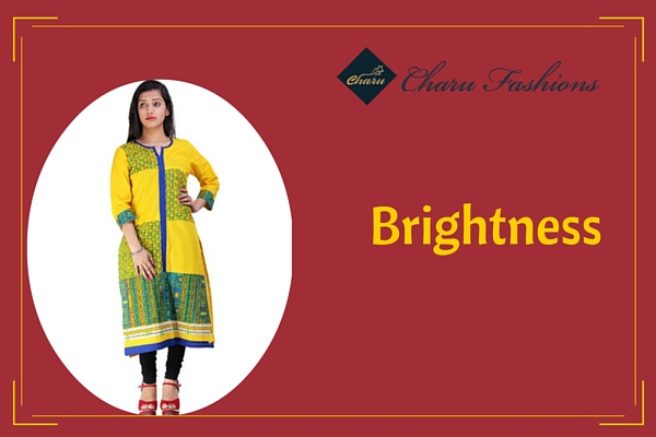 Yellow Ethnic Kurti | Charu Fashions