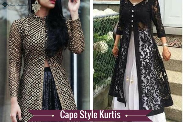 Cape Style Kurtis | Charu Fashions