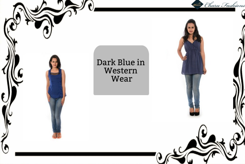 Dark Blue Color | Charu Fashions