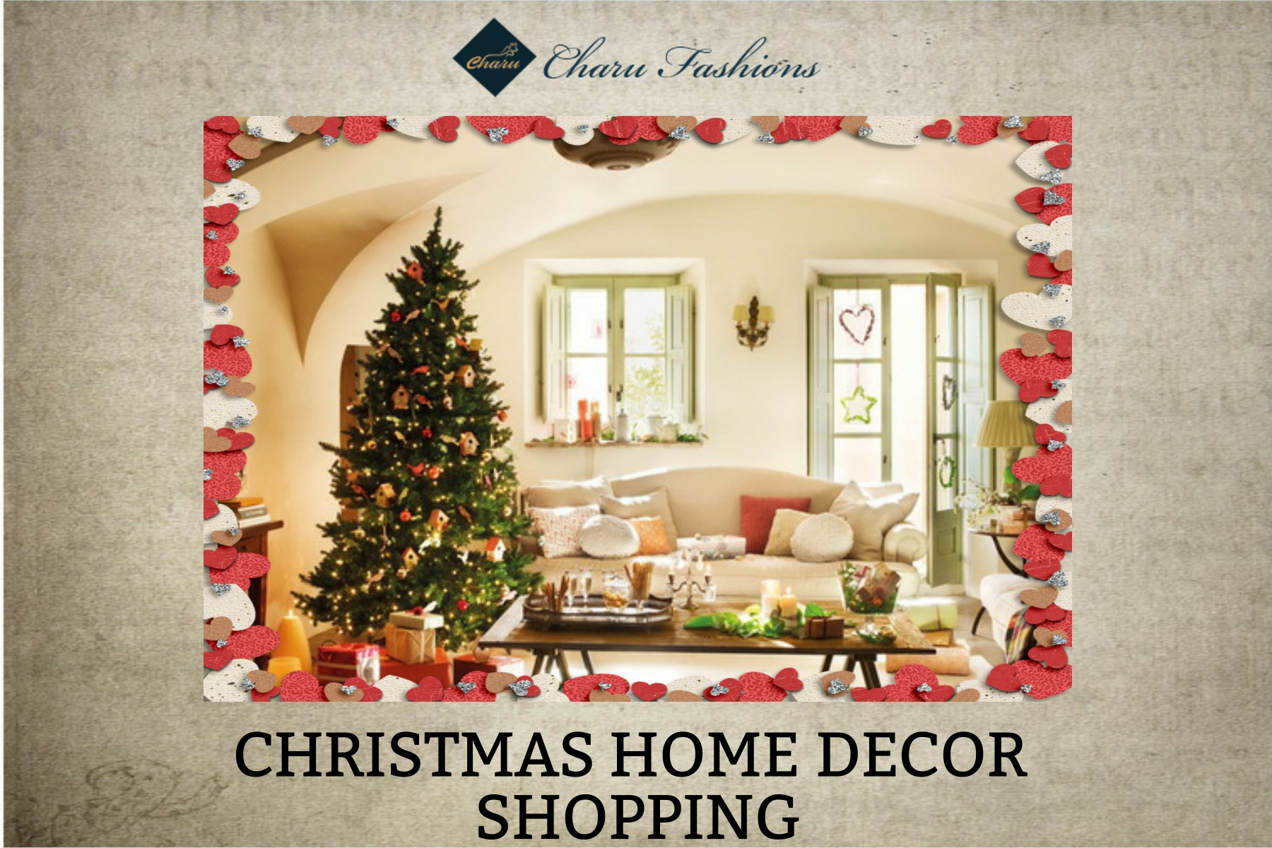 Christmas 2015 wholesale home decor items charu fashions for Christmas home designs