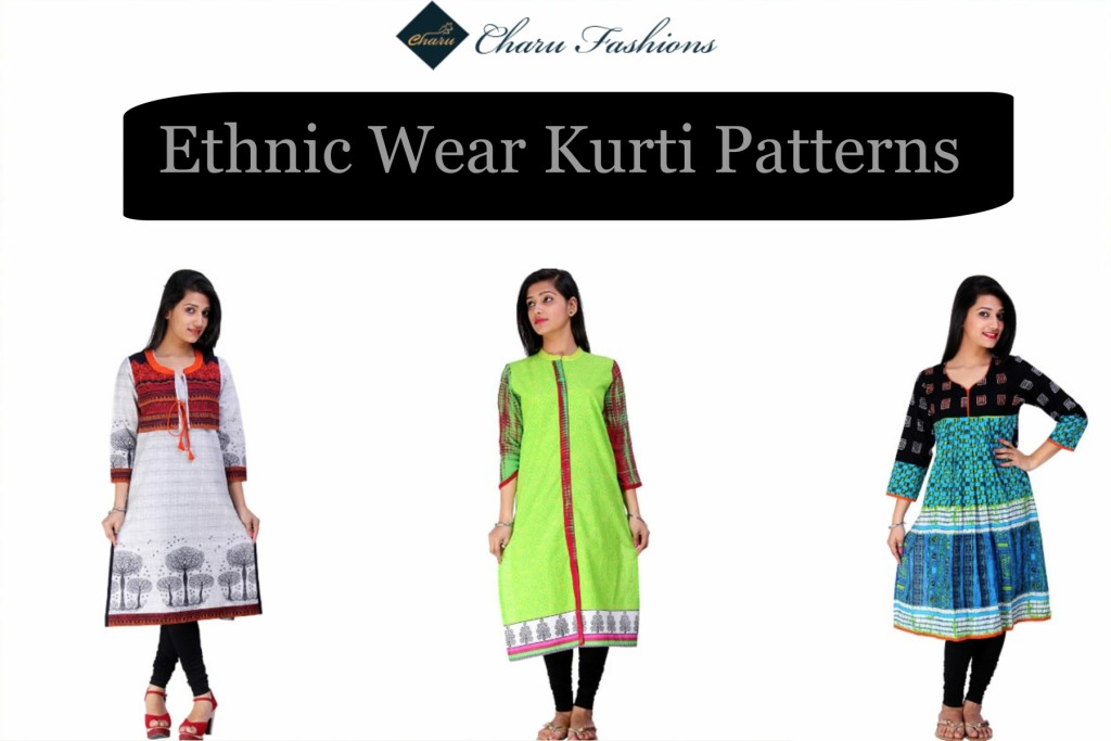 Ethnic Kurti Patterns | Charu Fashions