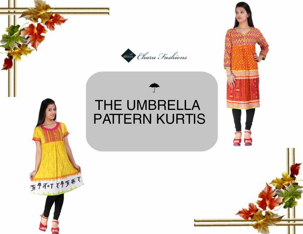 Umbrella Pattern Kurtis | Charu Fashions