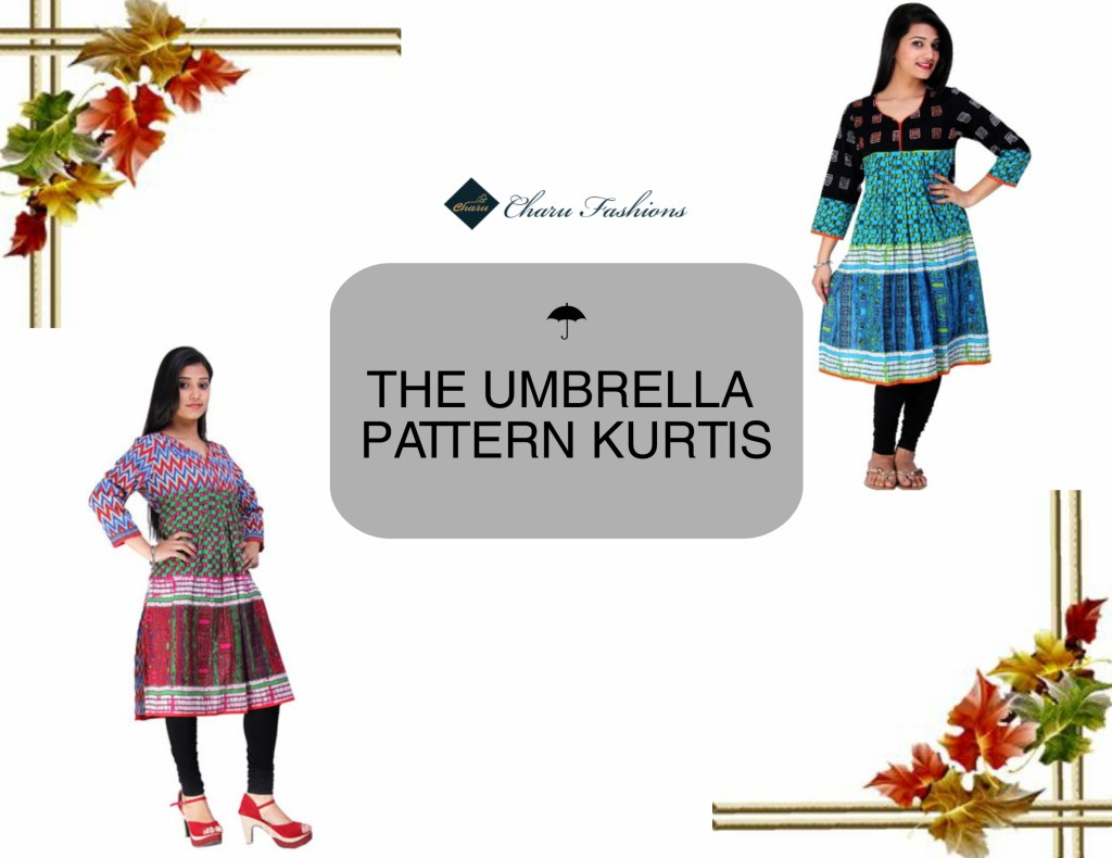 Umbrella Pattern Women Kurtis | Charu Fashions