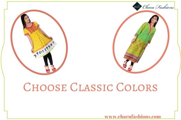 classic colors | Charu Fashions