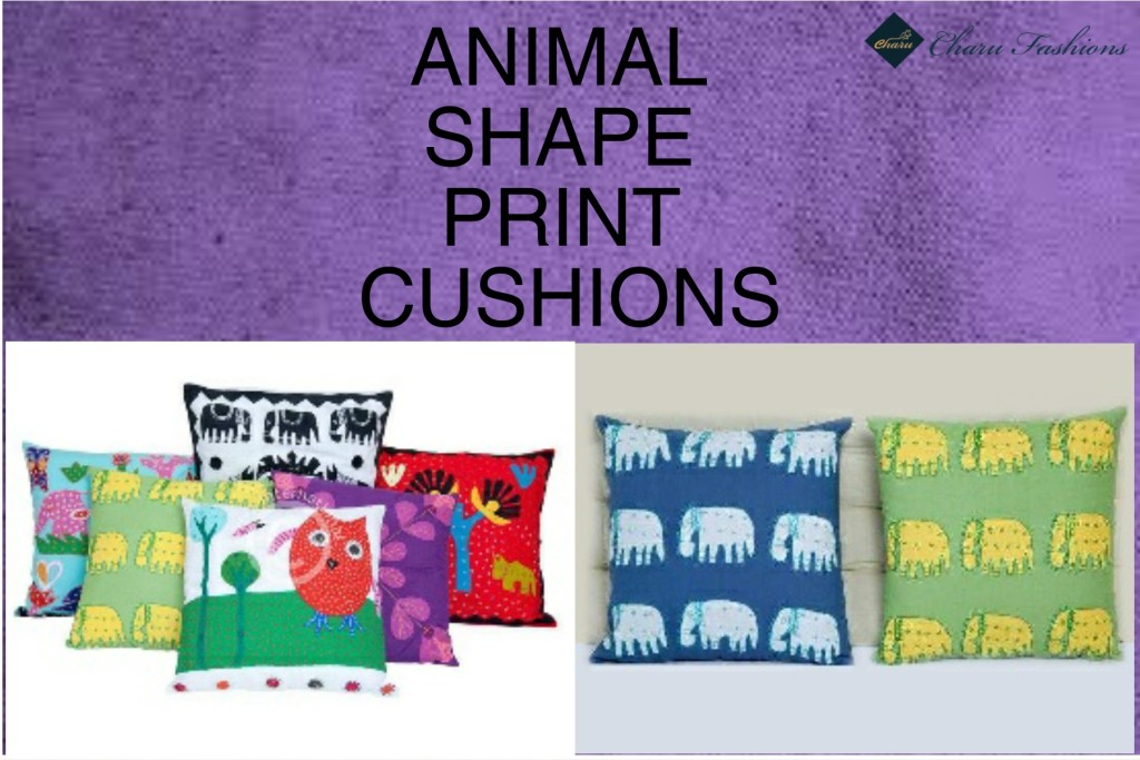 Animal shape print cushions | Charu Fashions