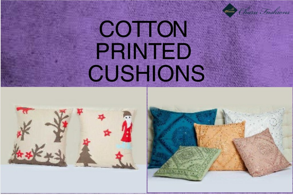 Cotton printed cushions | Charu Fashions