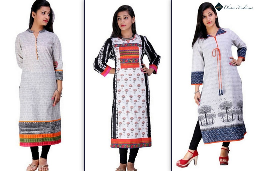 Ethnic Kurtis Shopping | Charu Fashions