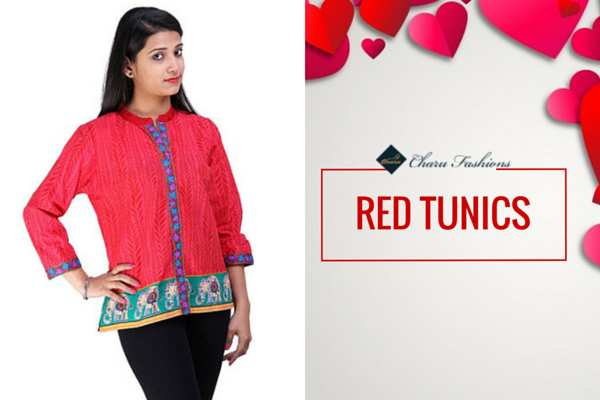RED TUNICS | Charu Fashions