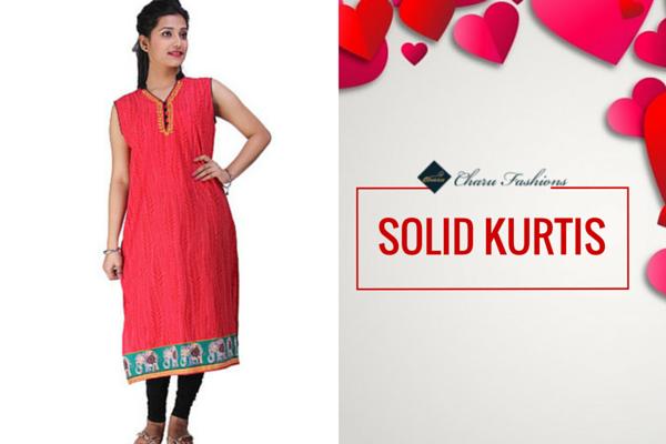 SOLID KURTIS | Charu Fashions