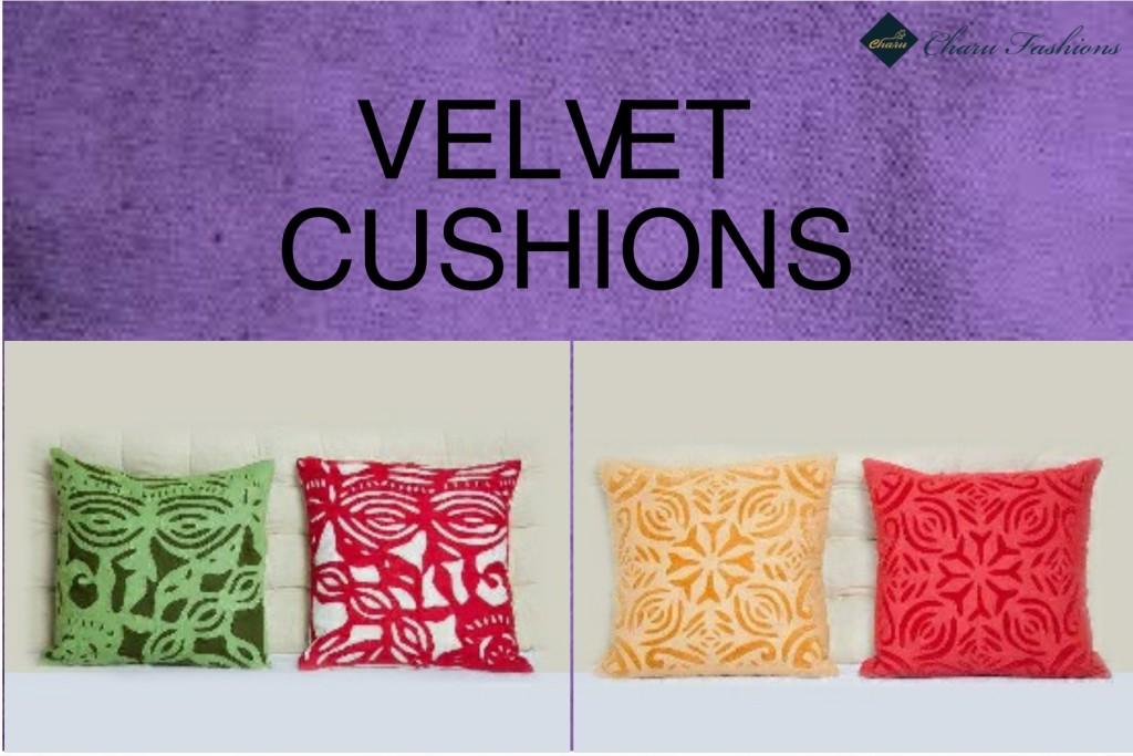 Velvet cushions | Charu Fashions