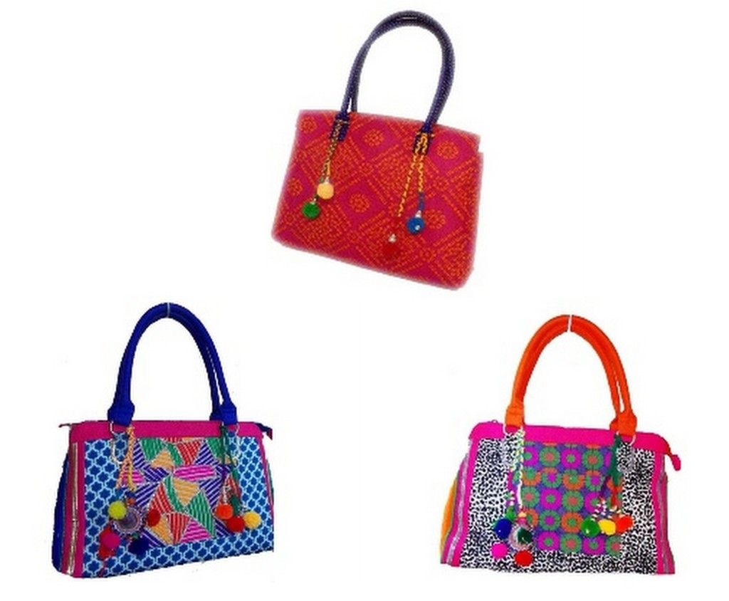 Wholesale Embroidered Handbags - Charu Fashions