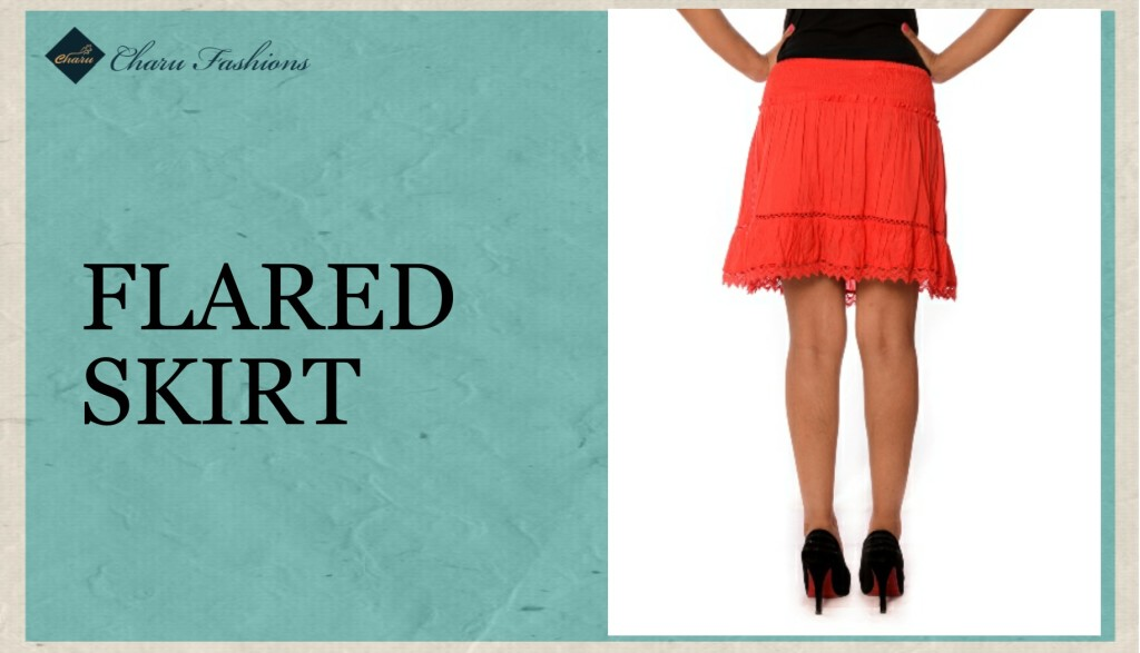 Flared Skirt - Charu Fashions