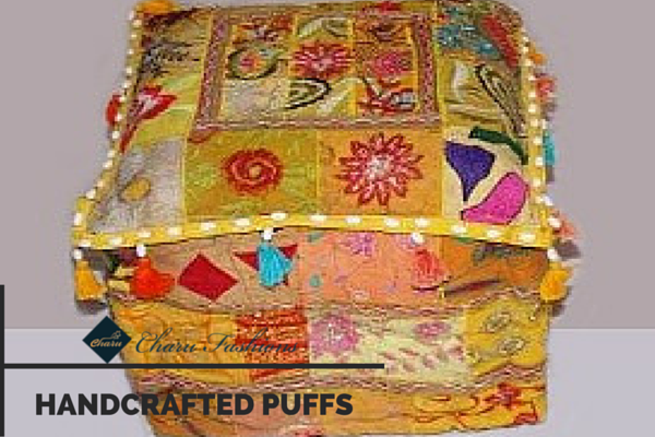 Handcrafted Puffs | Charu Fashions