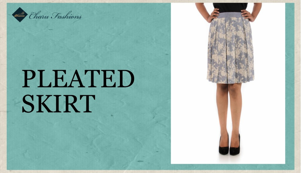 Pleated Skirt - Charu Fashions