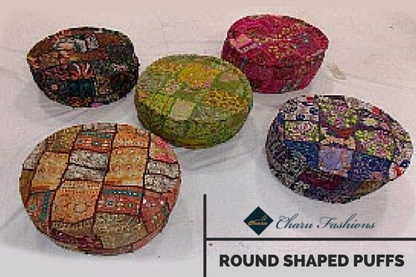 Rounded Puffs | Charu Fashions