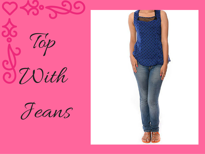 Top With Jeans - Charu Fashions