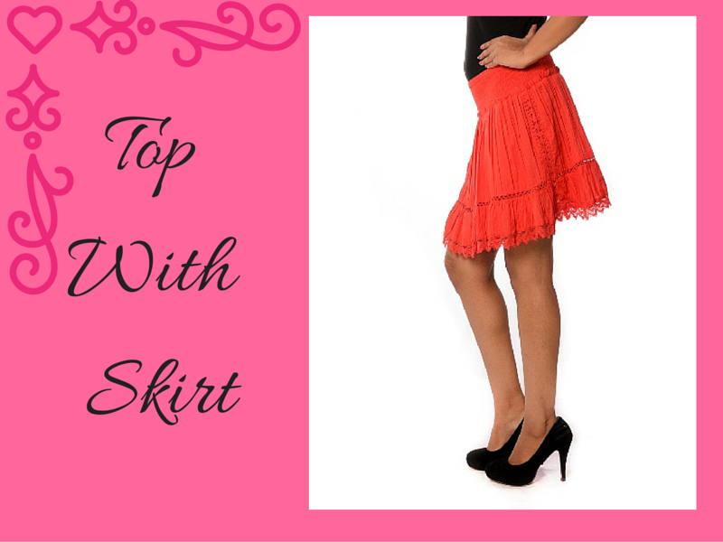 Top With Skirts - Charu Fashions