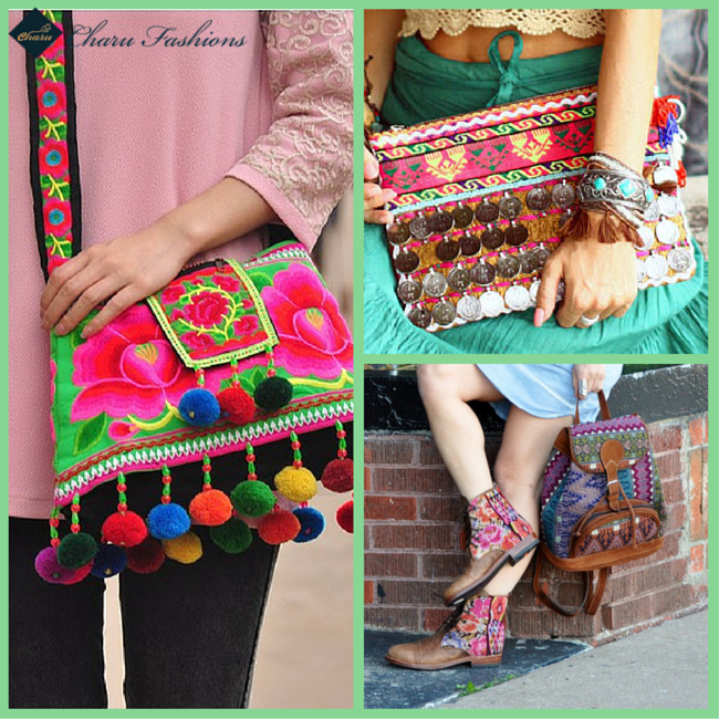 Crop top With Multicolor Handbags & Accessories | Charu fashions