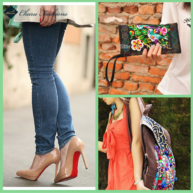 Denim Jeans With Multicolor Handbags | Charu fashions