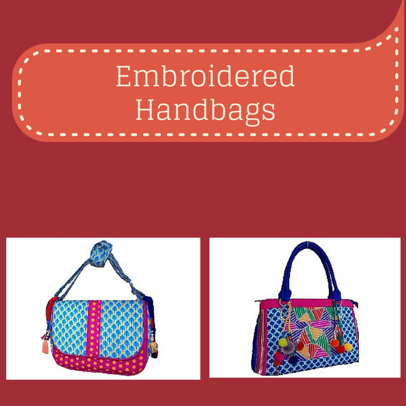 Embroidered Handbags - Charu  Fashions