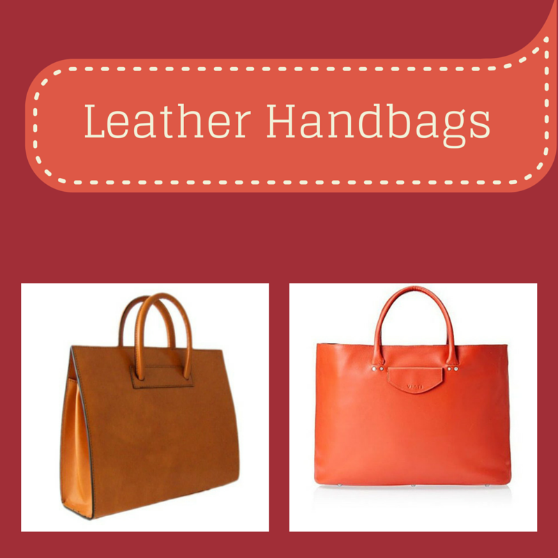Leather Handbags - Charu Fashions