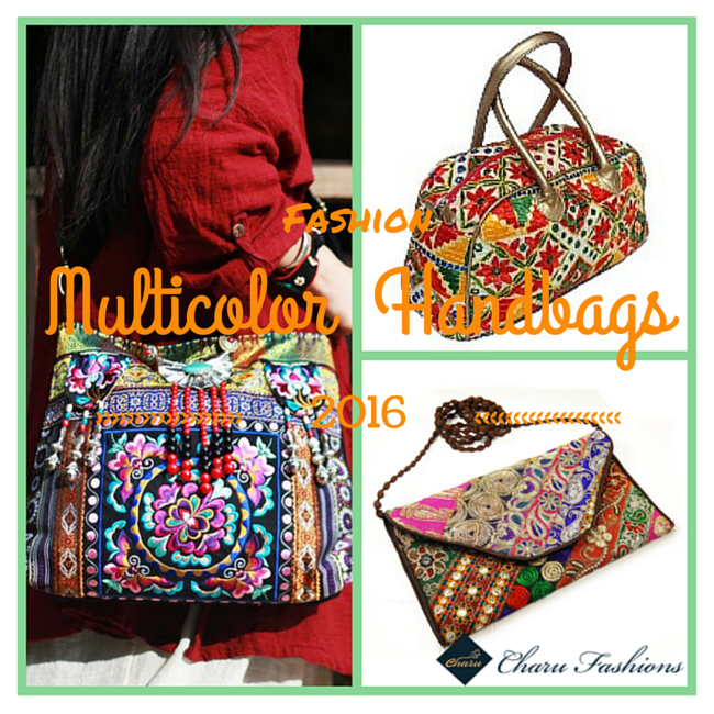 Multicolor Handbags | Charu Fashions
