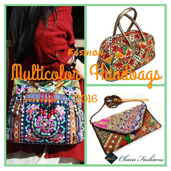 Multicolor Handbags Charu Fashions