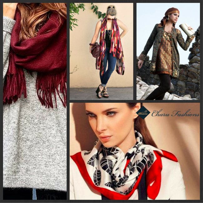 The Indo western scarf look - Charu Fashions