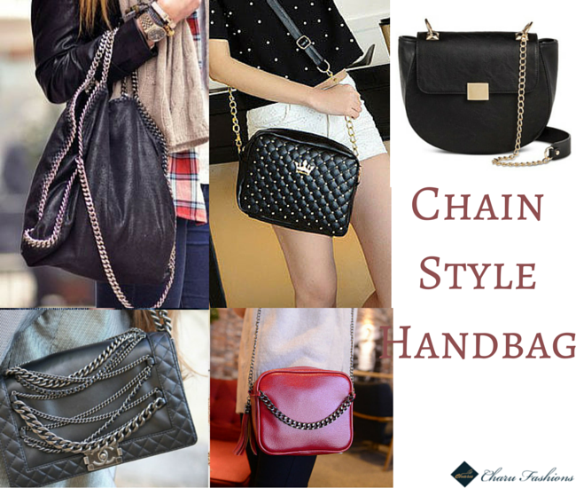 Chain-detail Handbag trends - Charu Fashions