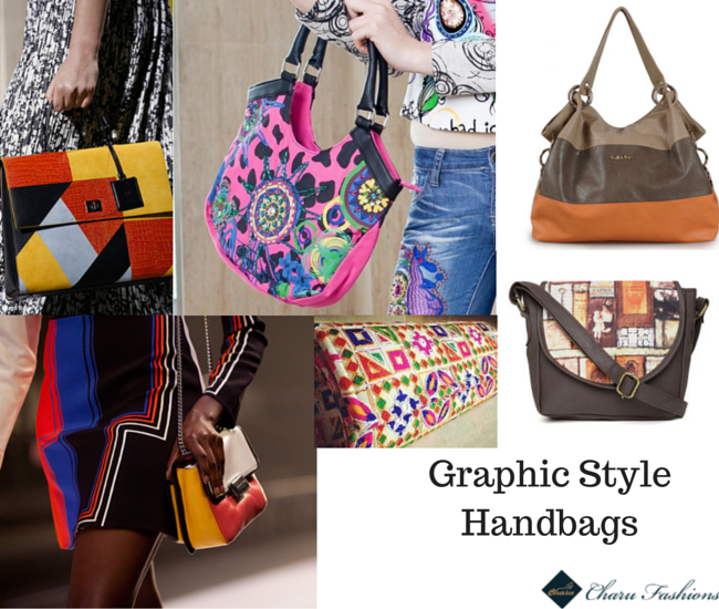 Graphic Handbags trends - Charu Fashions