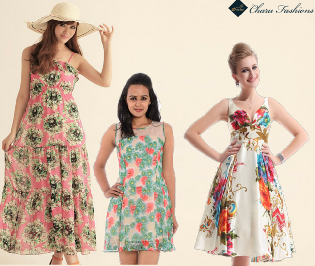 The floral dress - Charu Fashions