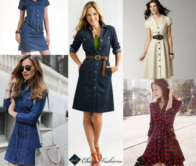 The shirt dress - Charu Fashions