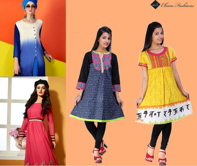 The stylish kurti - Charu Fashions