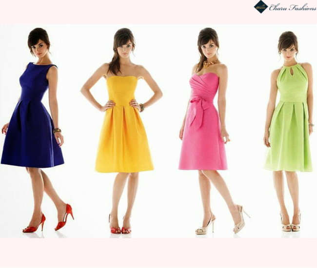 Different Colors In Dresses - Charu Fashions