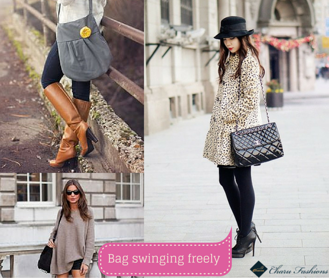 Bag swinging freely - Charu Fashions