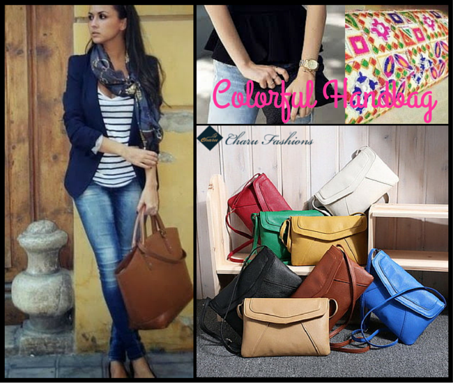 Throw a Colorful Handbag  - Charu Fashions