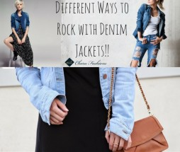 Denim Jacket with Different outfits